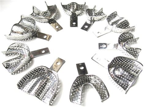 Dental Impression Tray Set 7 10 ting orthodontic lab and supply fast shipping