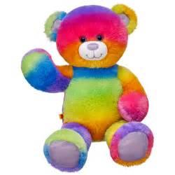 Rainbow glitter bear build a bear