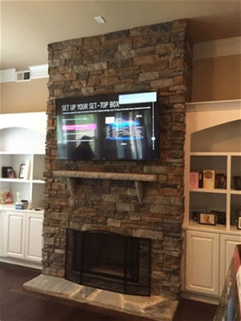 Flat Screen Tv Mounted Fireplace by Tv Wall Mounting Nc Hdtv Mounting On