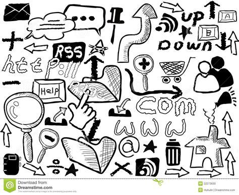doodle website doodle web elements stock photo image 22273630