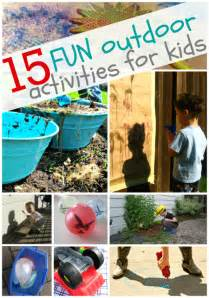15 outdoor activities for no time for flash cards