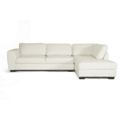 Contemporary Sectional Sofas With Chaise Orland White Leather Modern Sectional Sofa Set With Right Facing Chaise See White