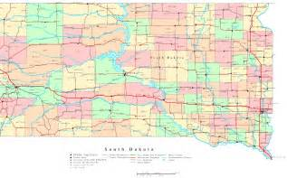 south dakota printable map
