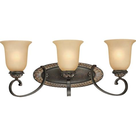 Gold Bathroom Vanity Lights Volume Lighting Bristol 3 Light Vintage Bronze And Antique Gold Bathroom Vanity Light V2293 82
