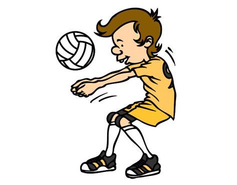 dibujos de niños jugando voleibol dibujos del voleybol imagui