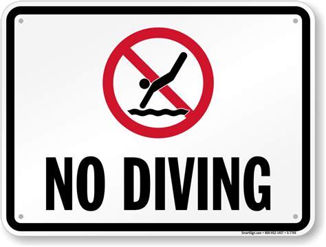 no smoking sign arizona no diving sign with graphic sku s 7749