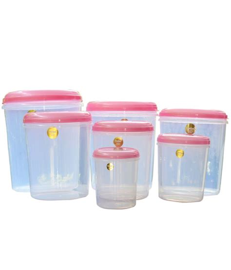 plastic storage containers for kitchen chetan plastic kitchen storage airtight containers 7 pc set buy at best price in india