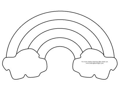 rainbow coloring page craft either use as a coloring