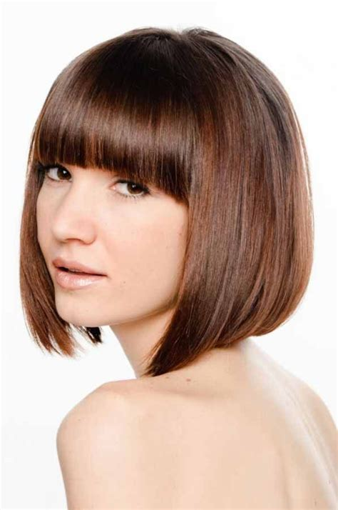 hairstyles bob cuts with fringe bob with fringe short hair inspirations pinterest