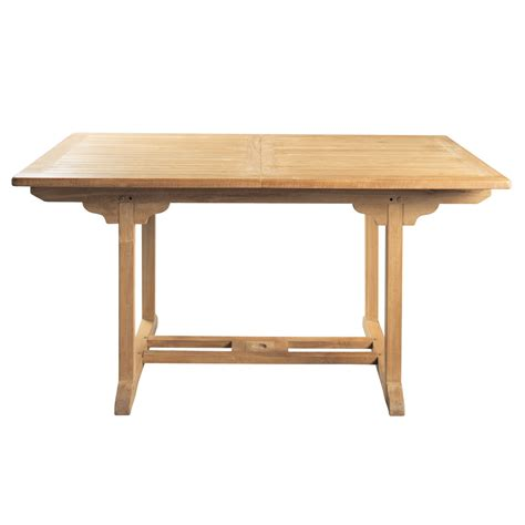table en teck de jardin table de jardin en teck massif l 150 cm ol 233 maisons du monde