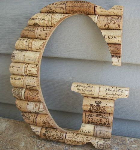 wine cork monogram home decor simply it