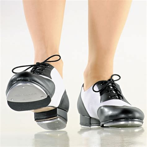 tap shoes black and white