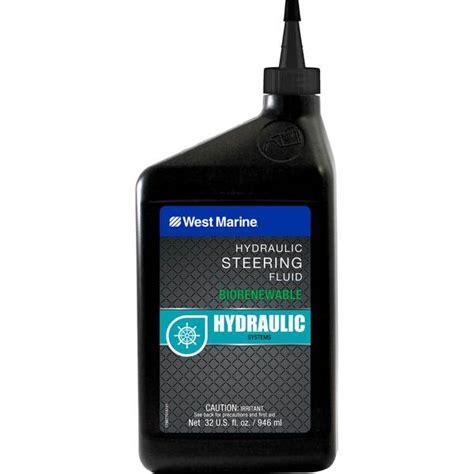 marine hydraulic steering oil west marine pure oceans hydraulic steering fluid 32 oz