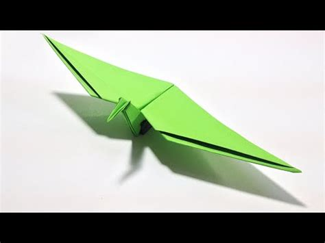 Origami Pterodactyl - origami dinosaur how to make an origami flying dinosaur