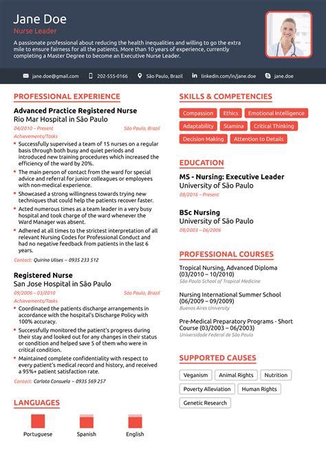 Nurse Resume Exle 2019 Rn Cv Template