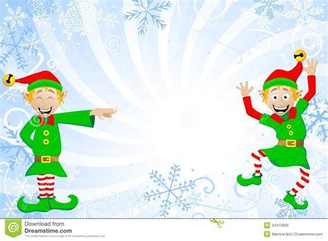 wallpaper christmas elf blue christmas background with elves stock vector