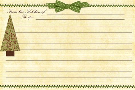 cookie exchange recipe card template paper crafting obsession planner free printable