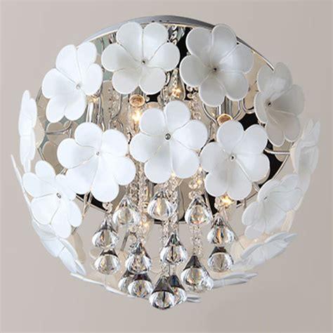 Flower Ceiling Light Large White Flower Ceiling Light Fixture Lustres Glass Flower L For Dining Room