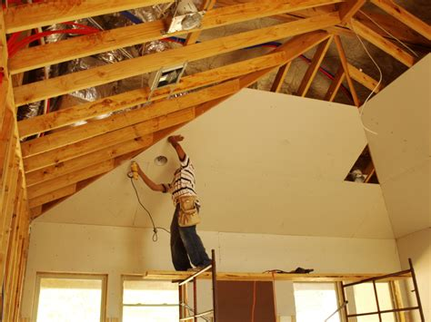 how to sheetrock a ceiling prevent mold with paperless drywall networx
