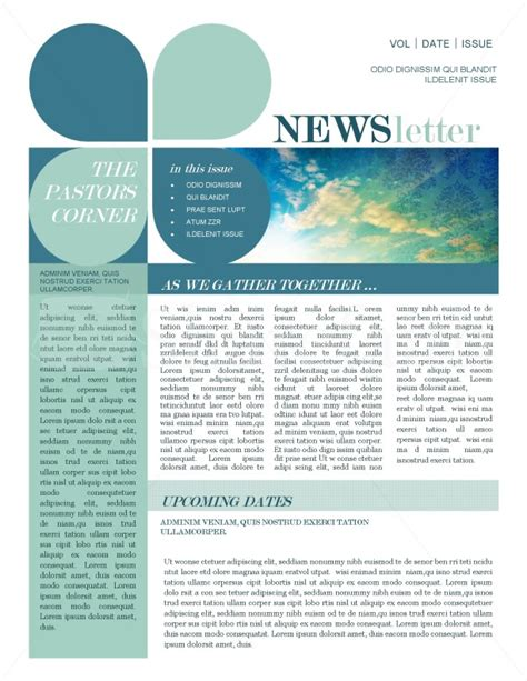 news letter template mission update newsletter template template newsletter