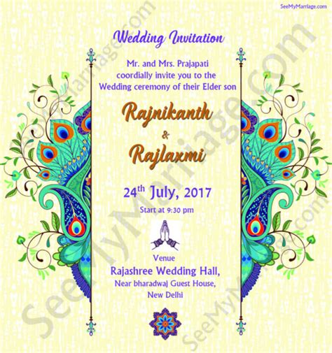 whatsapp wedding invitation card template invitation from peacock traditional decorated beautiful