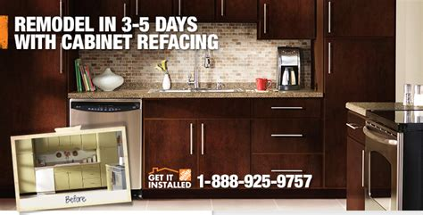 home depot kitchen cabinets cost kitchen cabinet refacing by the professionals at the home