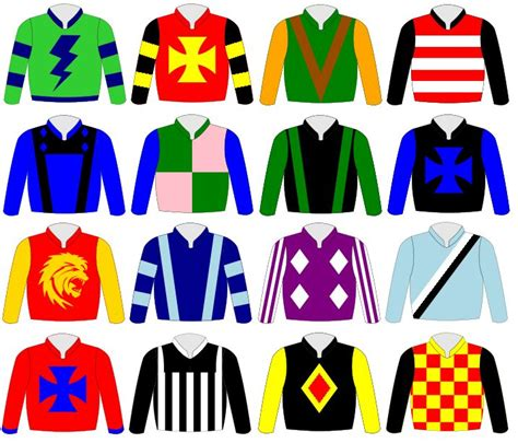 various images of jockey silks derby auction 2015