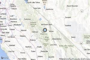 bishop california map earthquake 3 1 quake strikes near west bishop la times