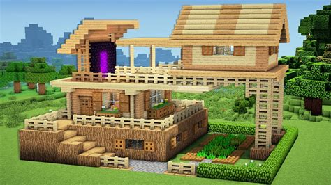 minecraft videos how to build a house minecraft advanced starter house tutorial how to build a house in minecraft