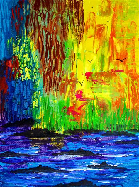 acrylic painting jungle abstract paintings george newcastle contemporary