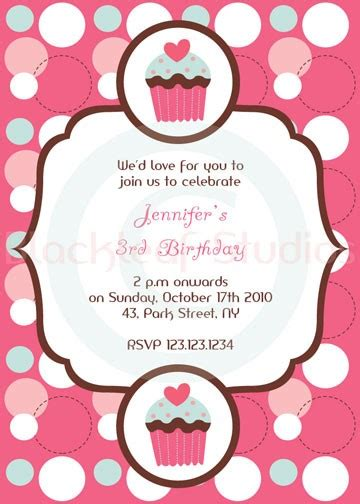 best photos of cupcake birthday party invitation templates