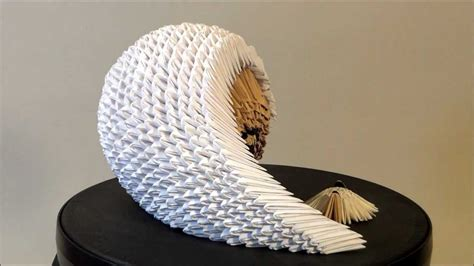 caracol contemporary paper sculpture by francene