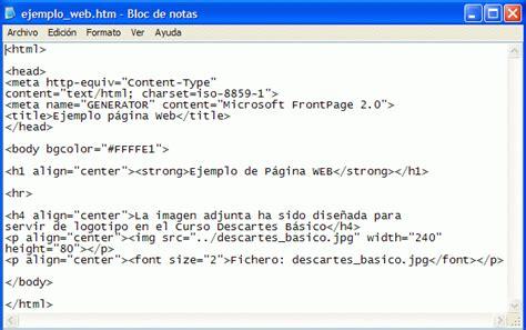 imagenes html bloc de notas introducci 243 n 3 descartes
