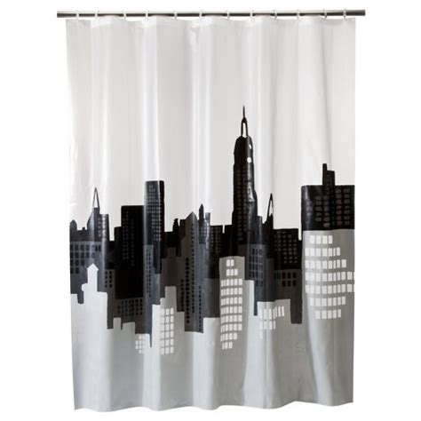 Room Essentials City Scape Shower Curtain Target