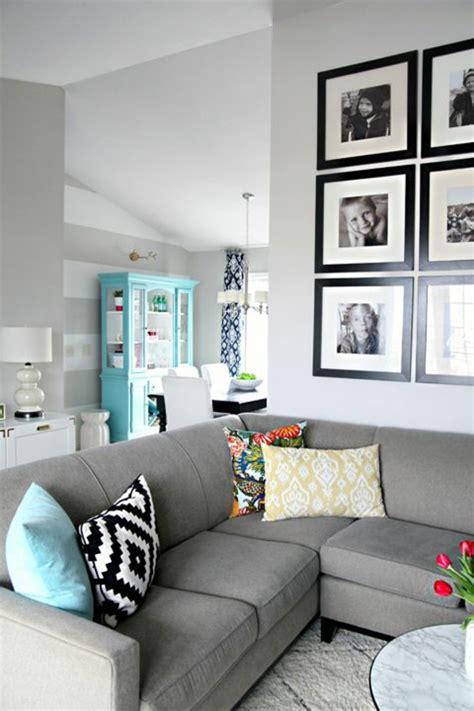 wandgestaltung mit bildern wandgestaltung wohnzimmer 20 kreative wanddeko ideen