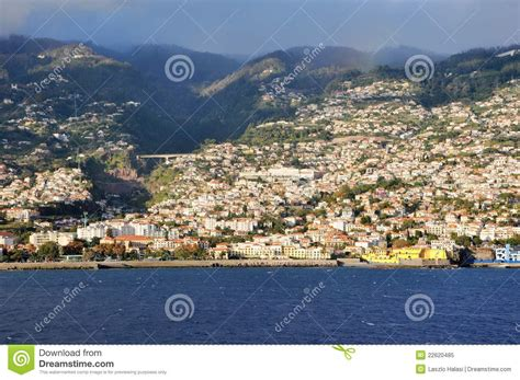 Coastal House Plans view of capital city funchal on madeira island royalty