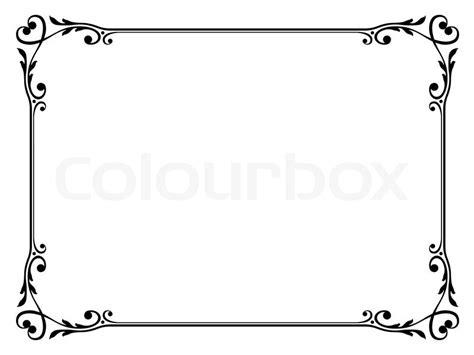 Word Vorlage Mit Rahmen Kalligraphie Ornamentalen Dekorativen Rahmen Mit Herz Vektorgrafik Colourbox