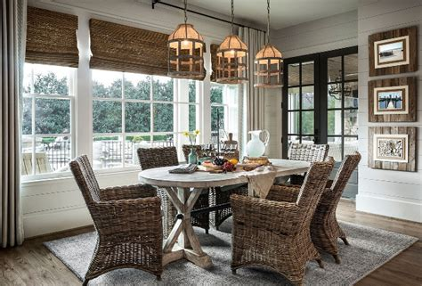 Casual Dining Room Looks Coastal Farmhouse Style Dining Room Home Bunch Interior