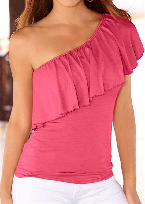 Sale Promo Fashion Wanita Blouse Combi one shoulder blouses fashion blouse with