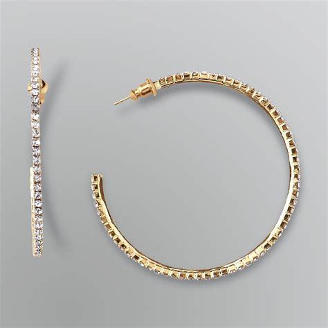 Rhinestone Hoop Earrings smith pink rhinestone hoop earrings jewelry
