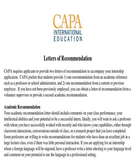 Reference Letter After Internship 8 sle internship recommendation letter free sle