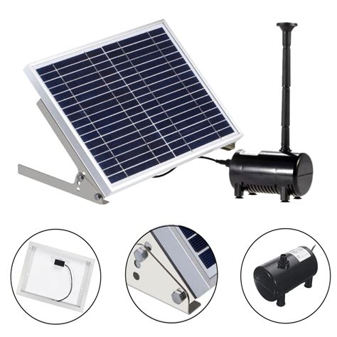 Panel Pumps solar panel powered brushless water for pond