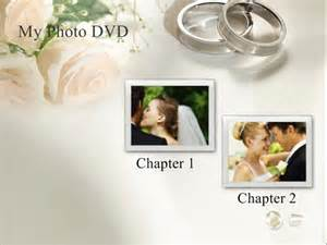Free Dvd Menu Templates by Free Wedding Themed Dvd Menu Background Templates