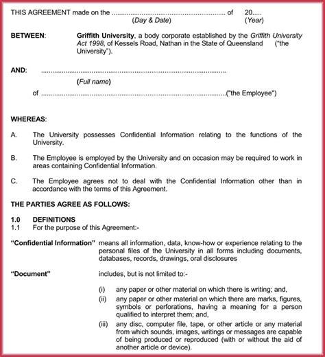 employee confidentiality agreement employee confidentiality agreement 7 best professional