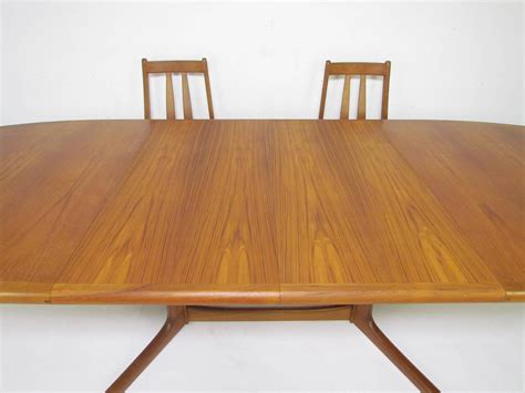 teak dining set expandable oval table and six