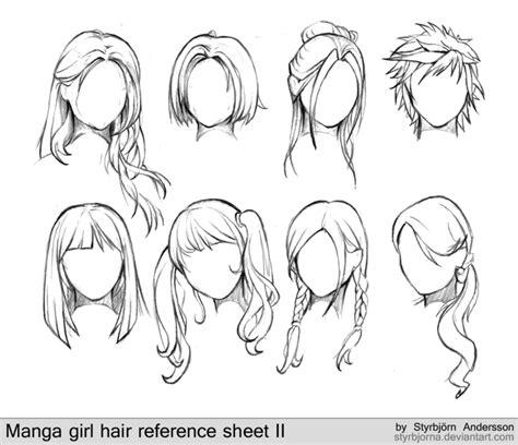 anime hairstyles guide manga girl hair reference sheet ii 20130113 by rinfaye