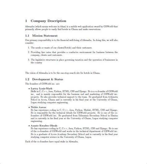 complete business plan template sle complete business plan countriessided cf