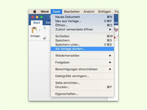 Word Vorlage Mac word dokumente als vorlage speichern schieb de