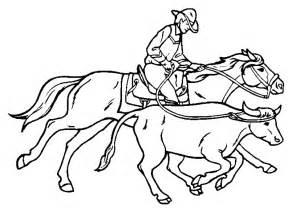 cowboy coloring pages coloringpages1001