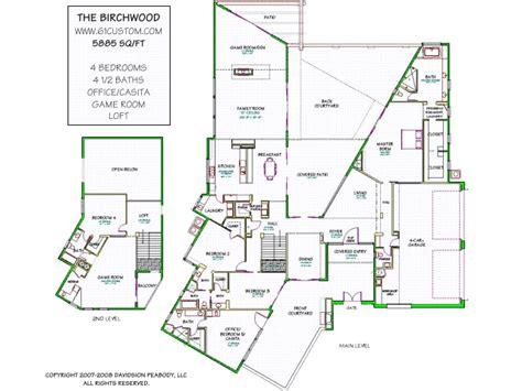 obra homes floor plans planos de una casa lujosa de una planta y media